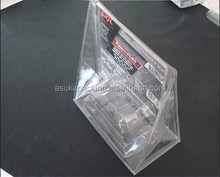 blister packing pvc tray hanging plastic display case