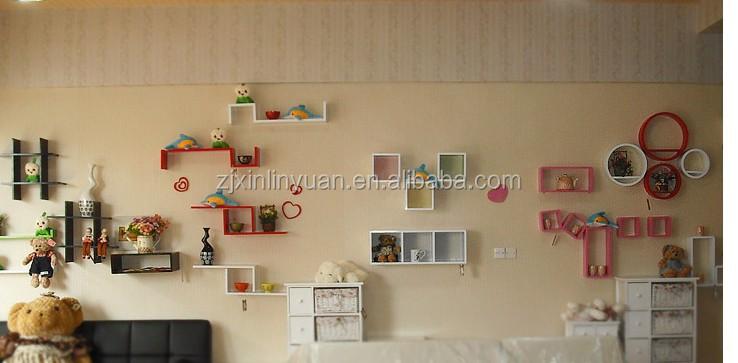 Houten wandplank opslag, s vormige boekenkast, kinderen plank ...