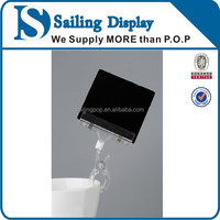 Promotional pop plastic clip display sign holder