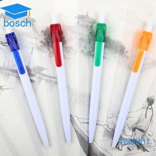 Plastic white chinese writing pens for advertising