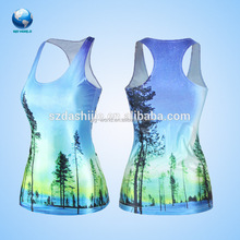 custom print tank top&cheap 100% polyester sleeves tank tops for girls&wholesale tank top