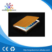 2015 hot promotional brown pu leather case for ipad mini