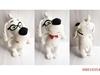 Cartoon Plush Glassed Dog Toys Soft Stuffed Toys