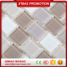 Mixed Colors Hot Selling Glass Wall Tile Glazed Mosaic Supplier