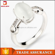 Latest design gold plated 925 sterling silver rings for women