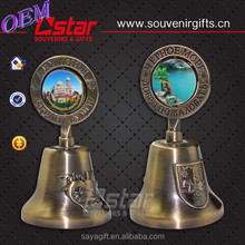 The metal zinc alloy dinner bell with free design