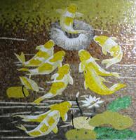 fish mosaic pattern