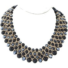 ODM/OEM Jewelry Factory black pearl necklace with crystal, baroque pearl necklace, pearl chain necklace designs bridal