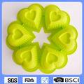 Forma de coração bolo molde de silicone bakeware/big silicone molde do bolo