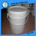 cubos de pintura plástica de 5 galones de estilo FDA americana 100% PP virgen / barril / balde