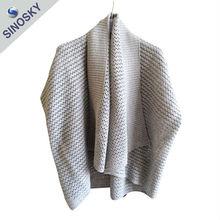 Hot Sale Latest Fashion 100% Viscose Cashmere Poncho/Knit poncho