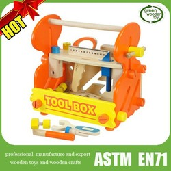 2015 Top chidren wooden tool toys , nice green wooden toys ,good educational wooden toys