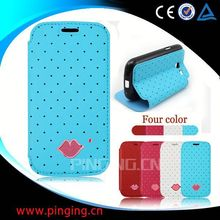 Sexy lips phone accessory flip cover case for Xiaomi Redmi 1S