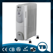 Electric thermal oil filled radiator heater with thermostat