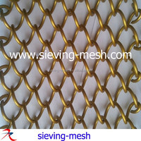 Metal Woven Architectural Mesh, Metallic Woven Wire Mesh, Chain Link Wire Drapery