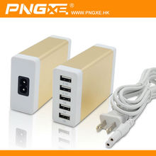 China wholesale PNGXE design 5v 1a fast charge 5 port usb charger for iphone 5