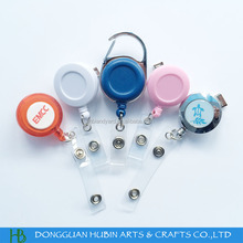Customized round shape rotatable clip badge reel with different designs