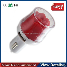 Rose Flower Model Universal 3.1A Dual Adapter USB Car Charger