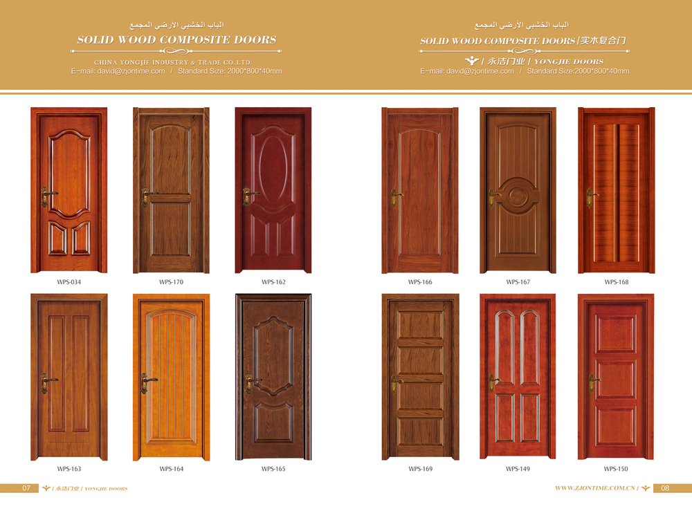2015 New Design Solid Wooden Door Wood Door Design Entry
