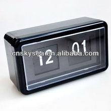 Square table plastic case flip clock