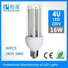 E27/B22 360 Degree energy saving high power indoor lamps led corn light 4U SMD2835 16W Shape bulb CE &ROHS