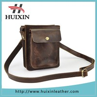 Fashion multifunctional genuine leather camera bag with shoulder and waist
