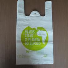 Green printed T shirt retail grocery shopping bags, T shirt shopper bags for retail store shopping