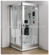 steam room wth touch screen control unit
