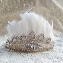 Rhinestone Crown Headband Kids Hair Accessories