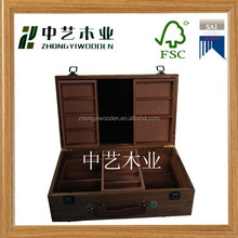 hot selling 2015 year China suppliers FSC&ISO9001 Handmade Custom Bamboo Wooden Tea Box for china suppliers wholesale