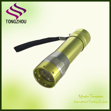 Promotional Aluminum 9 LED flashlight torch/9 LED flashlight/9 LED torch with AAA Battery