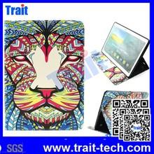 Tribal Lion Pattern High Quality Side Flip stand PU Leather+TPU case for Samsung Galaxy Tab S T800 10.5