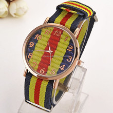 genuine leather strap simple style watch woman geneva