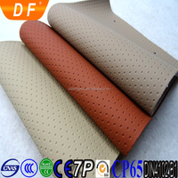0.8mm diameter soft elastic perforated pu pvc leather for car seat
