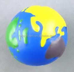 pu cheap promotional gift pu colorful earth stress ball