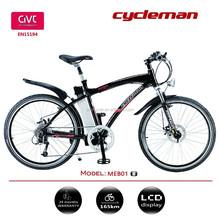 Aluminum alloy ebike frame, electric mountain bike bicycle, powerful motor bike
