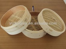 Delivery short Hot-sell and Eco-friendly Round Bamboo Steamer