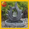 Outdoor water fountain with transformer for horse statue