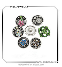 Crystal Snap Button Jewelry Charms Bulk Wholesale
