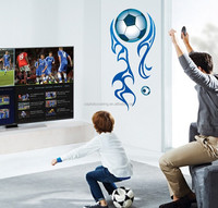 DIY heating soccer football eco-friendly removable and reusable wall decoration sticker for room decor