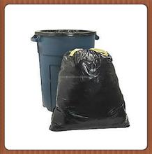 LDPE Black Heave Duty Plastic Drawstring Garbage Bag for Bin
