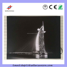 art picture with led light well-known tourist attractions design