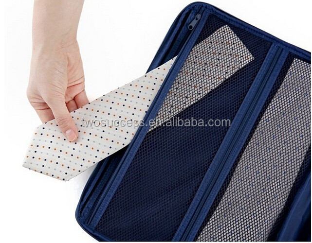 travel bag with tie organizer pouch