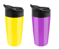 custom double wall plastic tumbler with painting