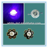 1W/3W/5W 400-410nm UV High Power LED with 20mm Plate, With Aluminum Heatsink