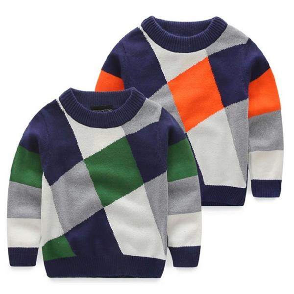Knitting Pattern Children Sweater Children Boys Pullover Sweater Round Neck Sweater Korean Baby