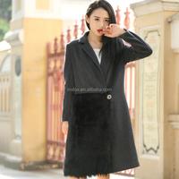 2015 New Fashion Designer Women Winter Coat With Fur Decoration Ladies Long Coats