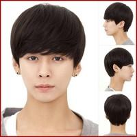 2015 Fashion handsome shedding free virgin remy brazilian natural hair wig for men