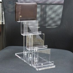 High quality custom 4 tier acrylic display stand for wallet