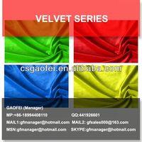 velvet fabric characteristics
